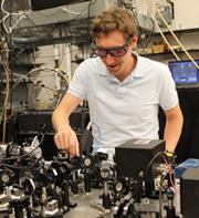 Jason Bartell in the Fuchs Group Lab